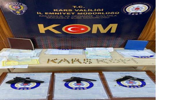 Kars'ta Tefecilik suçu kapsamında operasyon düzenlendi