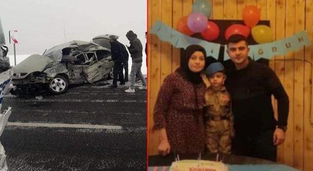 Katliam gibi kazada uzman çavuş eşi ve minik oğulları hayatını kaybetti