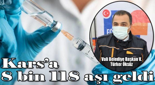 Kars'a 8 bin 118 aşı geldi