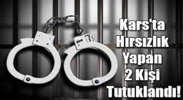 Kars'ta hırsızlık yapan 2 kişi tutuklandı