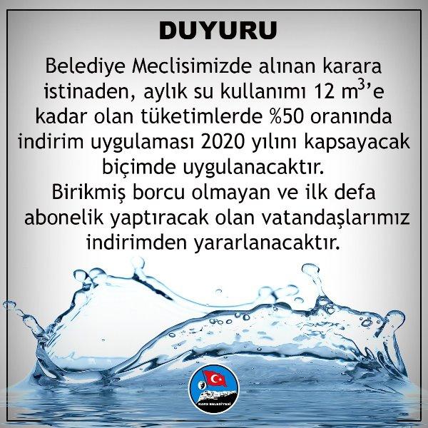 Kars Belediyesi'nden Suya Yüzde Elli İndirim