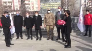 Ardahan'dan Kars'a gelen Türk Bayrağı Doğu Anadolu Bölgesi'ni dolaşacak.